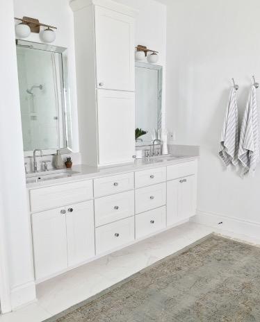 A Modern Minimalist Master Bathroom Makeover Luv Bec